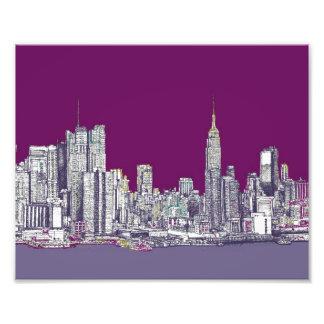 Púrpura de Nueva York NYC Impresion Fotografica