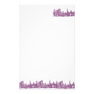 Púrpura de Nueva York Papeleria Personalizada