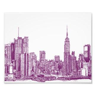 Púrpura de Nueva York Impresion Fotografica