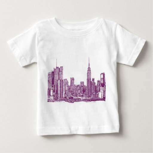 Púrpura de Nueva York Playeras