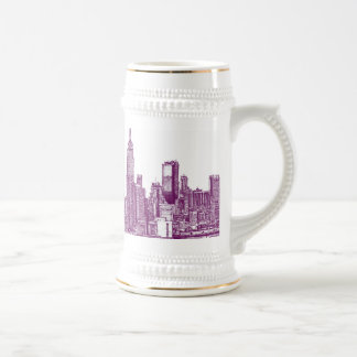 Púrpura de Nueva York Tazas De Café
