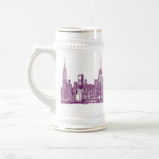 Púrpura de Nueva York Taza De Café