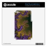 Púrpura de oro iPod touch 4G calcomanía