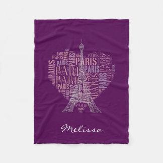 Púrpura de París el | de la torre Eiffel y de las Manta De Forro Polar