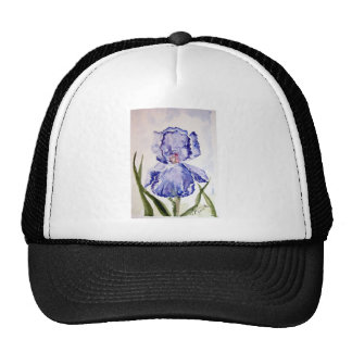 Púrpura de pintura de la acuarela del iris - azul gorras de camionero