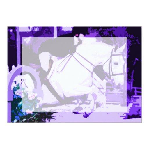 púrpura de salto del caballo árabe posterized anuncios personalizados