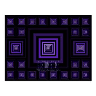 Púrpura de Squareception (modelo cuadrado) Postales