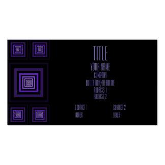 Púrpura de Squareception (modelo cuadrado) Tarjetas De Visita