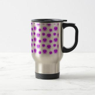 Púrpura de Starburst 2 del corazón Tazas De Café