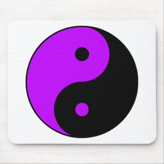 Púrpura de Taijitu del chino de la muestra del Tao Tapetes De Raton