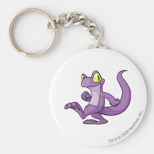 Púrpura de Techo Llavero Personalizado