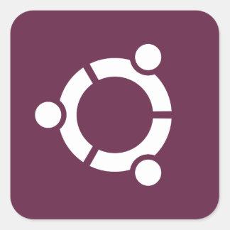Púrpura de Ubuntu Pegatina Cuadrada