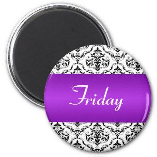 Púrpura de viernes - imán del damasco