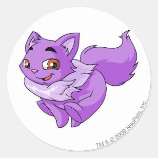 Púrpura de Wocky Pegatinas Redondas