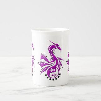 Púrpura de Yin Yang del dragón 1 Taza De Porcelana