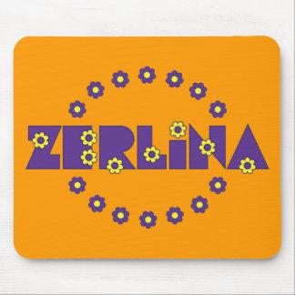 Púrpura de Zerlina de Flores Tapetes De Ratón