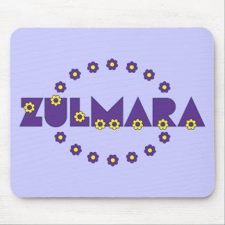 Púrpura de Zulmara de Flores Tapetes De Ratón