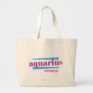 Púrpura del acuario bolsa tela grande