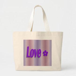 púrpura del amor bolsas lienzo