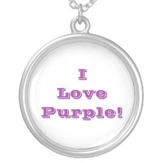 Púrpura del amor de Niecklace I Colgante Redondo