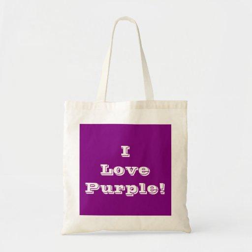Púrpura del amor del bolso I Bolsas