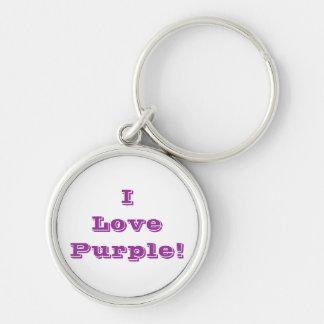 Púrpura del amor del llavero I