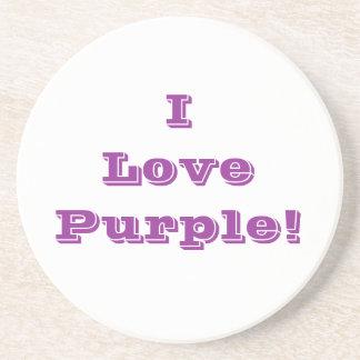 Púrpura del amor del práctico de costa I Posavasos Personalizados