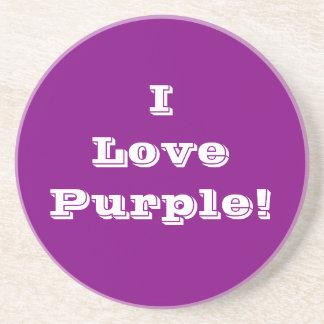 Púrpura del amor del práctico de costa I Posavasos Cerveza