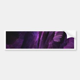 púrpura del arte de la llama, pegatina para auto