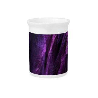 púrpura del arte de la llama jarron
