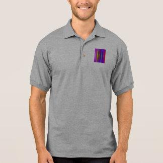 Púrpura del arte de las rayas verticales polo