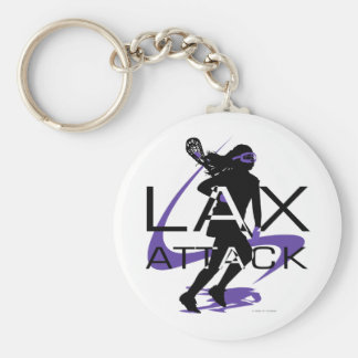 Púrpura del ataque de LAX de los chicas de LaCross Llavero