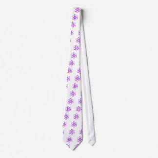púrpura del átomo corbatas personalizadas
