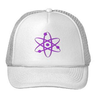 púrpura del átomo gorros