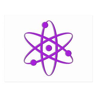 púrpura del átomo postales