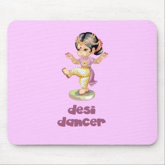 Púrpura del bailarín de Desi Mouse Pads