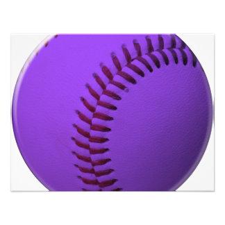 Púrpura del béisbol anuncio personalizado