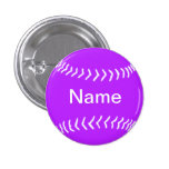 Púrpura del botón de la silueta del softball pin
