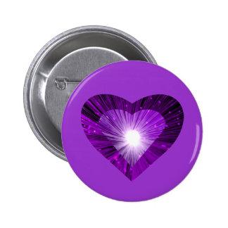 """Púrpura del botón del """"corazón"""" de Purple Heart Pin Redondo De 2 Pulgadas"""