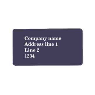 Púrpura del brezo etiquetas de dirección