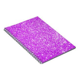 Púrpura del brillo libreta espiral