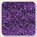 Púrpura del brillo posavaso