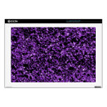 Púrpura del brillo skins para 43,2cm portátiles