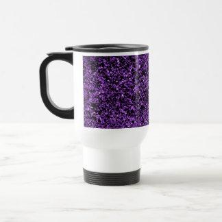 Púrpura del brillo taza de viaje de acero inoxidable