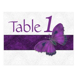 Púrpura del brocado de la mariposa del número de postales
