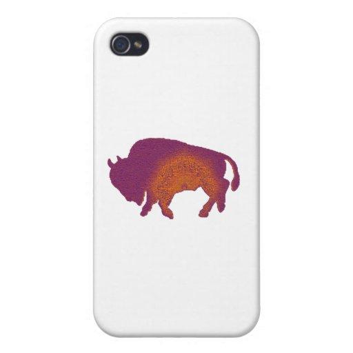 Púrpura del búfalo iPhone 4 funda