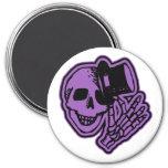 Púrpura del caballero del sombrero de copa del crá imán para frigorífico