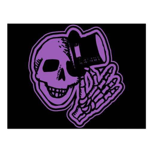 Púrpura del caballero del sombrero de copa del crá tarjeta postal