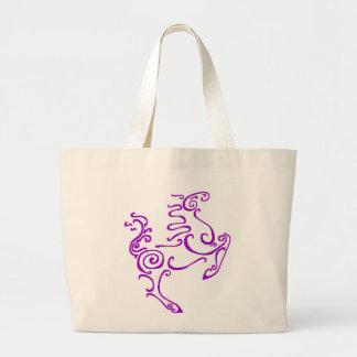 Púrpura del caballo de Sun Bolsas De Mano