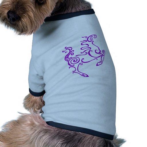 Púrpura del caballo de Sun Camiseta Con Mangas Para Perro